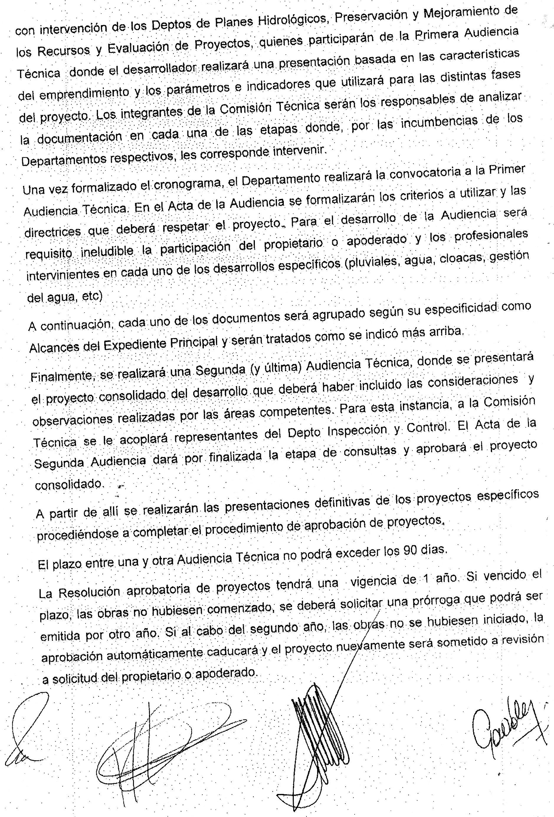 Autoridad del Agua - Resolucion 734/14
